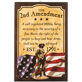 2nd Amendment Wood Wall Decor